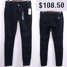 """Buffalo Jeans Faye Skinny Stretch Onix Black Denim Pants Size 31"""" Inseam NEW"""