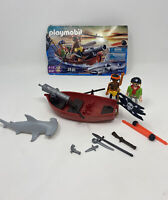 Playmobil 5137 Pirate Rowboat Boat with Cannon, Hammerhead Shark, & Pirates