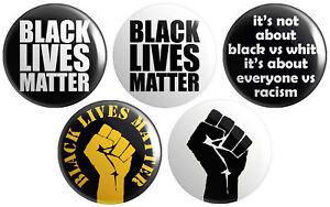 5 x Black Lives Matter BUTTON PIN BADGES 25mm 1 INCH – Anti-Racist Political BLM