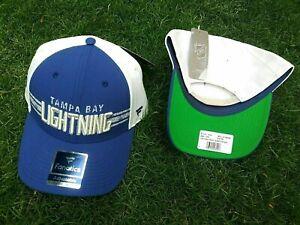 TAMPA BAY LIGHTNING NHL PRO HOCKEY BLUE WHITE SNAPBACK ADJUSTABLE HAT CAP NEW