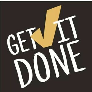"""Get it Done Wall Art Wood Composite 6.5"""" X 6.5"""""""