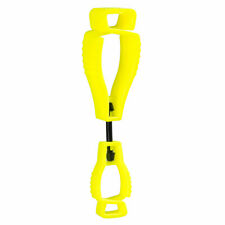 Portwest A002 - Yellow Metal Free Safety Glove Clip Holder Hanger Work Clamp
