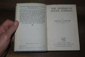 1928 THE MURDER OF ROGER ACKROYD by AGATHA CHRISTIE HERCULE POIROT V RARE ED *