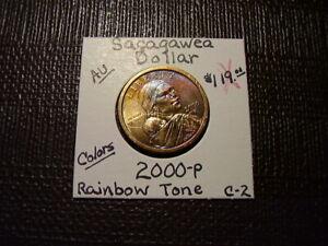 Rainbow Tone Gold & Purple Colors 2000-P Sacagawea Dollar  Gem  C-2