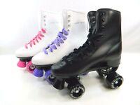 Roller Derby Skate Sizes 1-10 Women Kids Black White Purple Pink FREE SHIPPING
