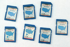 Lot of 6 - genuine Sandisk 1GB SD card with Nextar gps USA maps