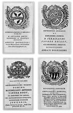 Araldica 16 - quattro stemmi nobiliari fiamminghi, originali, del '700