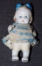 Miniature Vintage Bisque Doll Crocheted Dolls Japan