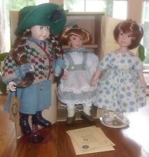 """Lot 3 Boyds Doll Collection """"Yesterdays Child"""" Katy and Judy Dee and Paula"""