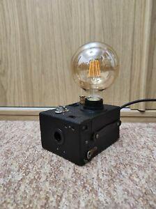 Camera Lamp Industrial Retro Vintage Upcycled Portrait Hawkeye Box Film LED