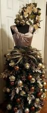Female mannequin torso to display Christmas tree, black/white Dress form Mf-88
