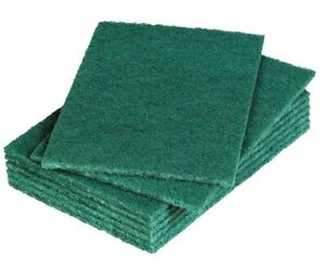 Green Scouring Pads Kitchen Sponge Heavy Duty Durable Packs of 1/4/12/24/48
