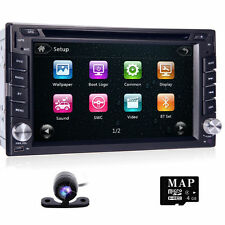 CD Player Bluetooth GPS Navigation 2Din HD Car Stereo DVD Radio Universal+Camera