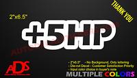 +5HP Decal Car Jdm Sticker Vinyl Window Bumper Funny Truck Euro Illest Drift #59