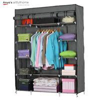5 Layer Portable Closet Wardrobe Clothes Rack Storage Organizer w/ Cover Gray