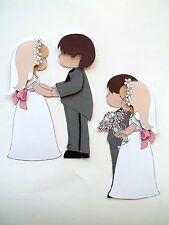 3D- U Pick - WP3 Wedding Bride Groom Couple Married Scrapbook Card Embellishment