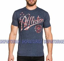 Affliction Icon Sport AS16489 New Short Sleeve Graphic Blue T-shirt for Men
