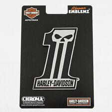 Biker Harley Davidson HD #1 Skull Totenkopf Logo US Chrom Emblem Aufkleber Decal