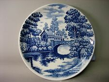 Large vintage Japanese bluestone decorative plate