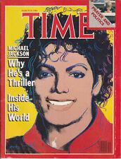 Michael Jackson TIME Andy Warhol American USA Magazine 1984