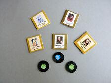 5 Stck Nostalgie Schallplatten 1:12 Puppenhaus  Diorama Modellbau 1:18