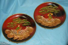 "RUTH WAITE ORIGINAL HAND PAINTED OIL PAINTING ASIAN ORIENTAL 9"" PLATE SET"