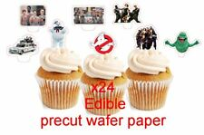 GHOST BUSTERS *new edible stand up cup cake toppers, wafer paper pre-cut