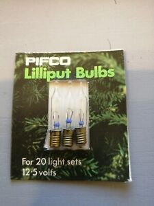 4 X PIFCO SPARE LAMP BULBS 2.5 VOLTS 0.5 WATTS FOR 100 LAMP SET