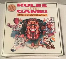 SEALED Sports Board Game Rules Of The Game For Those Of You Who Think You Know