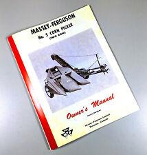Massey Ferguson Number 5 Corn Picker Two Row Operators Owners Manual Maintenance