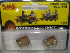 WOODLAND SCENICS N SCALE FIGURES - OUTDOOR DINING