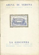 "MARIA CALLAS - Original Opera Program of ""La Gioconda"" 1952 - ARENA DI VERONA"