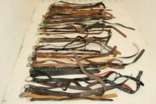 Lot Leather Belts Collection Resale Wholesale Used Raw Unsorted Premium 18 LBS