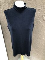 New Chico's Travelers Black Sleeveless Mock Neck Tank Top Size 3 = XL 12 14 NWT