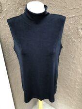 Chico's Travelers Black Sleeveless Mock Neck Tank Top Size 3 XL 12 14