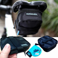 ROSWHEEL CYCLING BIKE WATERPROOF SADDLE BAG WEDGE REAR SEAT BICYCLE MTB ROAD
