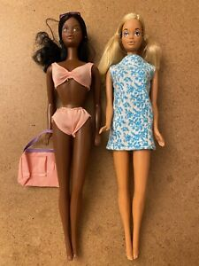 SunSet Malibu PJ And Christie Barbie  Vintage Dolls  Steffie Lot Of 2