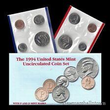 1994 P+D U S Mint Set ~ Kennedy Washington Roosevelt Jefferson Lincoln U S Coins