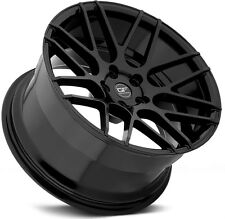 "18"" MRR Ground Force GF7 Wheels For BMW 128 135 18-Inch Black Rims Set (4)"