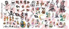 1/6 Scale Custom Tattoos: Pirates and Mermaids variety pack - Waterslide Decals