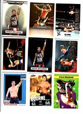 WWE Evan Bourne Wrestling Lot 9 Cards w/ 3 Inserts A