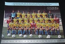 CLIPPING POSTER FOOTBALL 1985-1986 D2 FC GUEUGNON FORGERONS JEAN-LAVILLE