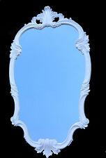 Espejo de Pared Blanco Barroco OVALADO 98x55 Antiguo pasillo DORADOS C410