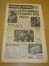 MELODY MAKER 1956 APRIL 28 EARTHA KITT LOUIS ARMSTRONG FREDDY RANDALL +