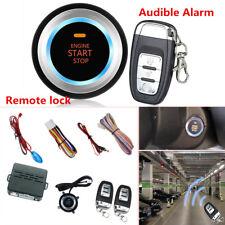 Car Alarm System Security Push Button Remote Engine Start Lock+LED Sensor Light