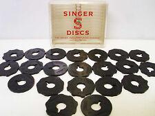 Singer Sewing Machine Cam Flat Discs Set of 21 Simanco Boxed Vintage Antique