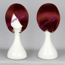 Starry Sky Yoh Tomoe One Piece Shanks cosplay wig short dark red wig anime wig