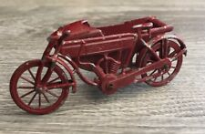 Rare Vintage Toy Indian Motorcycle W Sidecar Red France Nice Condition