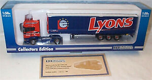 Scania R V8 Curtainside Lyons Road Transport 1-50 scale universal hobbies Ltded