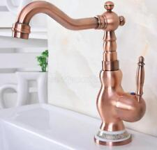 Bathroom Basin Sink Faucet Single Hole Mixer Tap Antique Red Copper